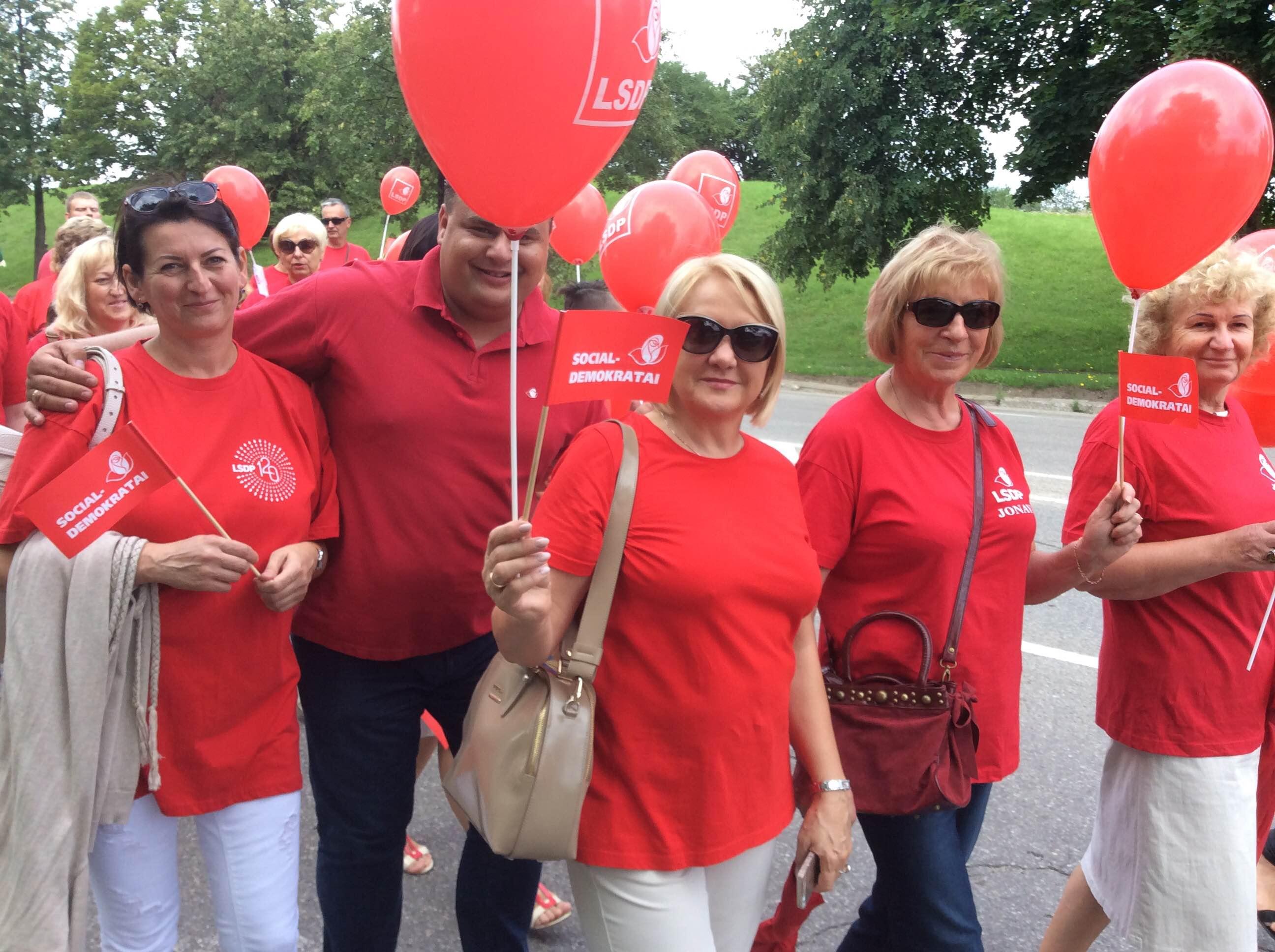 Jonavos socialdemokratai – miesto šventės eisenoje